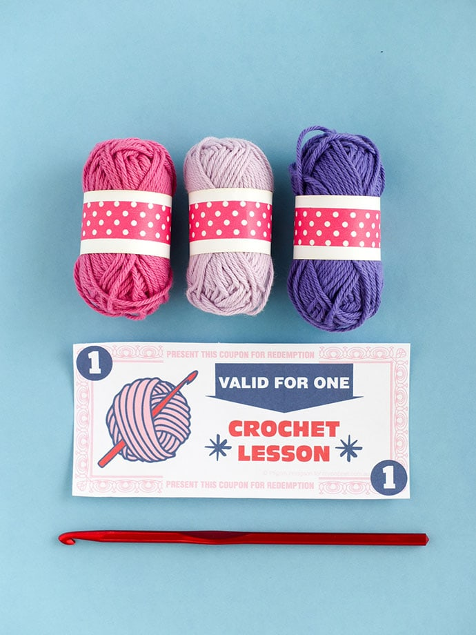 Printable Learn to crochet gift certificate - voucher - coupon - mypoppet.com.au