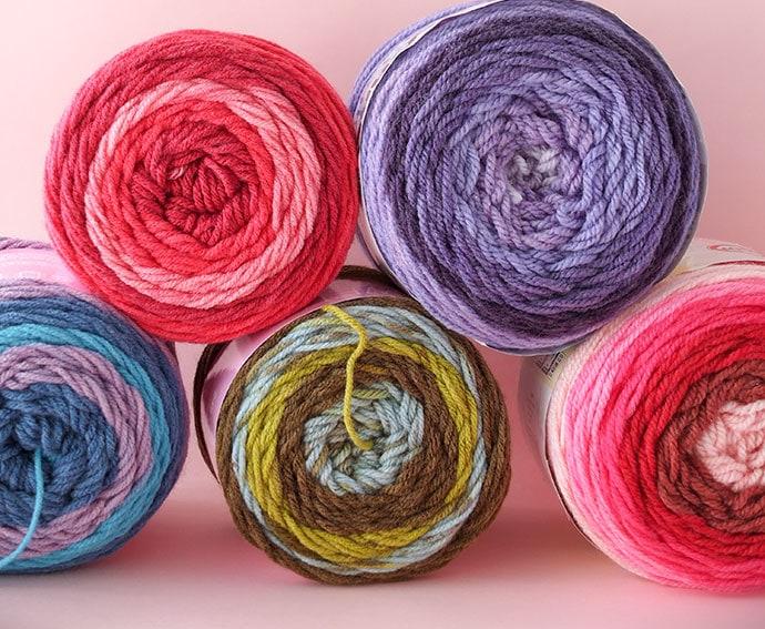Let's Try: Self Striping Yarn Cakes + 2 BONUS Crochet