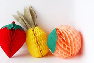 How to make: Honeycomb tissue paper fruit decorations - mypoppet.com.au