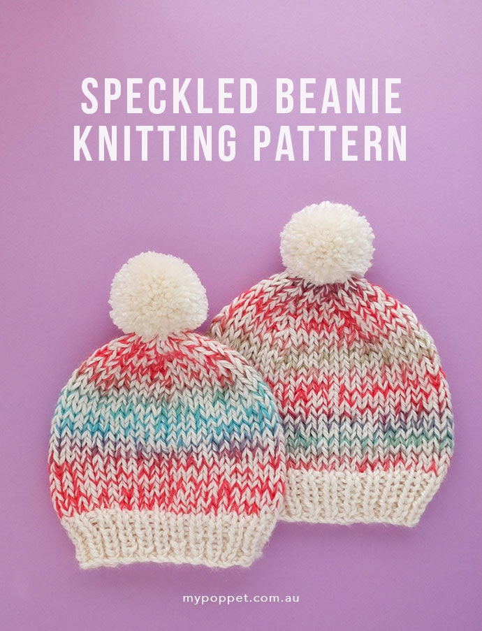 Knitted Beanie - free pattern - mypoppet.com.au