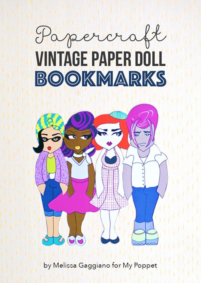 Papercraft: Vintage Paper Doll Bookmarks mypoppet.com.au