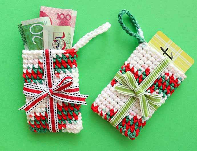 Crochet Gift Card Holder Christmas Ornament