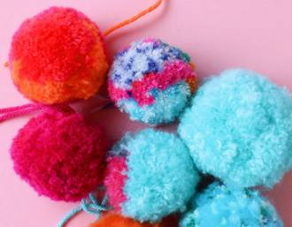 how to make fluffy pom poms - mypoppet.com.au