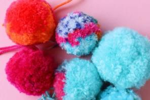 how to make fluffy pom poms - mypoppet.com.au