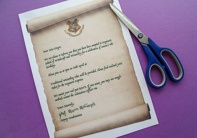 photograph about Printable Hogwarts Acceptance Letter referred to as Harry Potter Occasion Invitation Template - Hogwarts Recognition