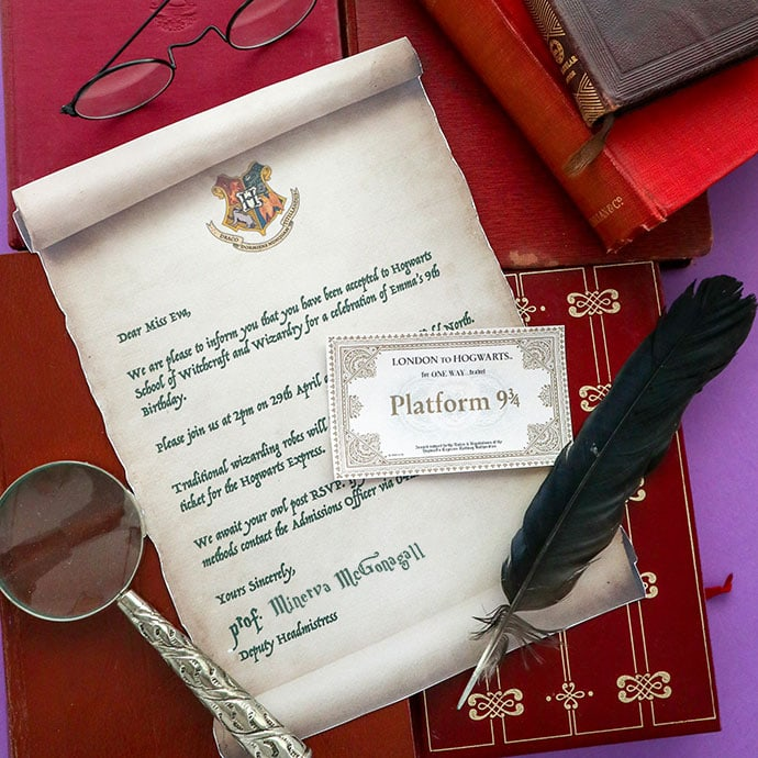photograph about Hogwarts Express Ticket Printable named Harry Potter Celebration Invitation Template - Hogwarts Recognition