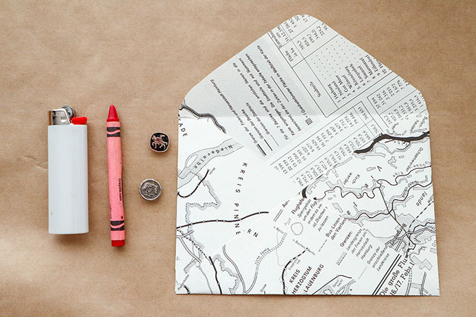 Make a wax seal from a crayon and a button - mypoppet.com.au
