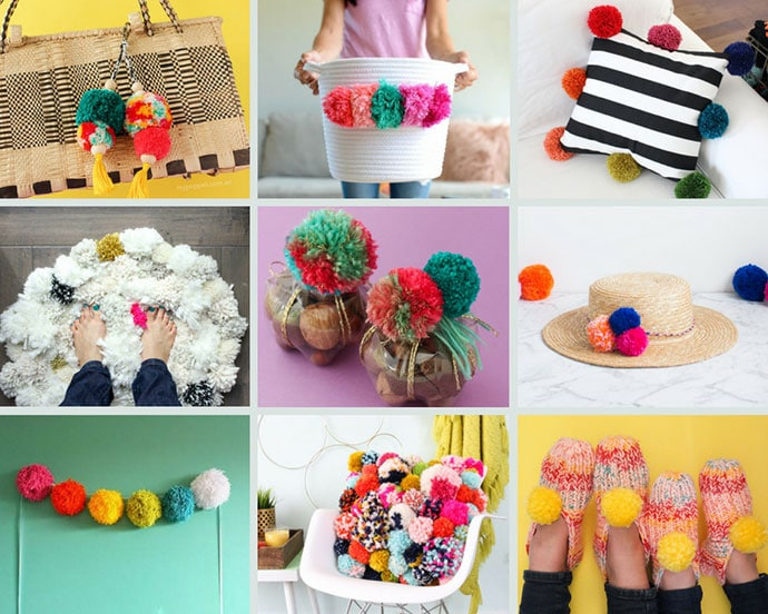 16 Pom Pom Craft Ideas to Love