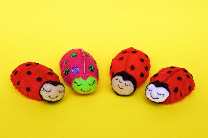 Stitch a Cute Ladybug Brooch