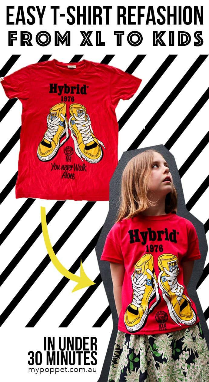 tshirt refashion - mypoppet.com.au