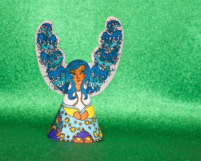 Printable Paper Angel Christmas Decoration