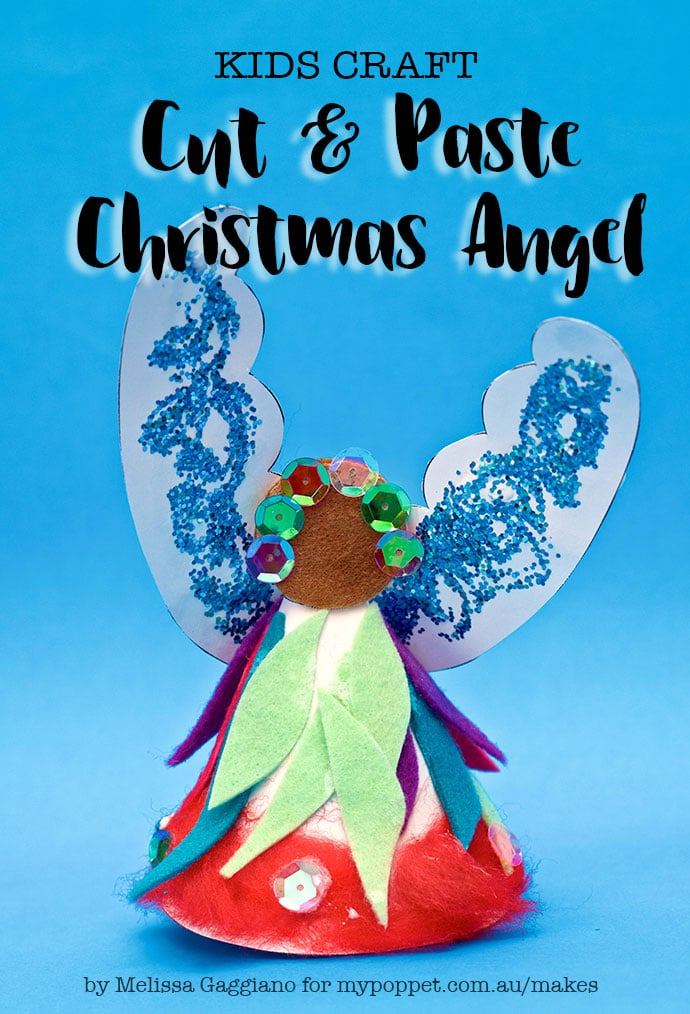kids craft - cut and paste christmas angel craft activity