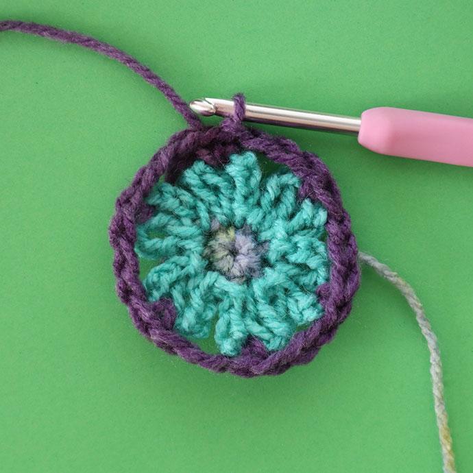 hexagon crochet motif - mypoppet.com.au