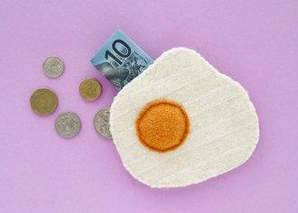 DIY Fried Egg Coin Purse - mypoppet.com.au