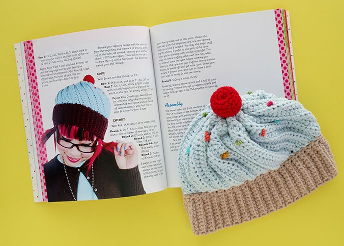 Cupcake baby hat Book Review - Twinkie Chan's Crochet Goodies for fashion foodies craft book - mypoppet.com.au