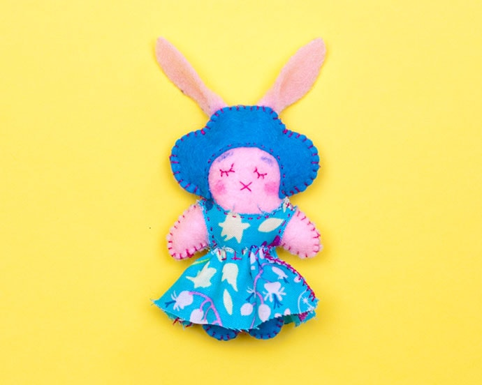 Easter Craft: Mini Bunny Doll a cute Easter Gift
