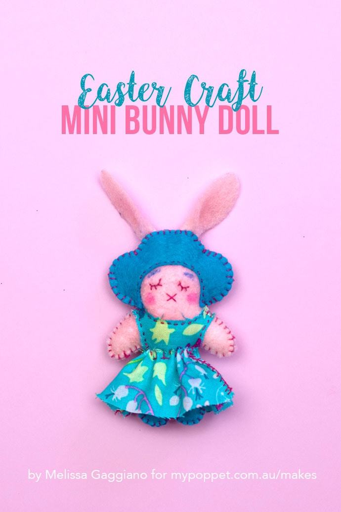 Easter Craft Mini Bunny Doll - mypoppet.com.au