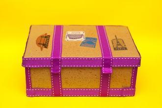 shoe box craft project - vintage steamer trunk