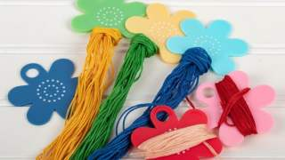 Floss Flower Thread Bobbins and Sticker Set by Lori Holt