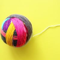 Make a Giant Magic Yarn Ball from Yarn Scraps