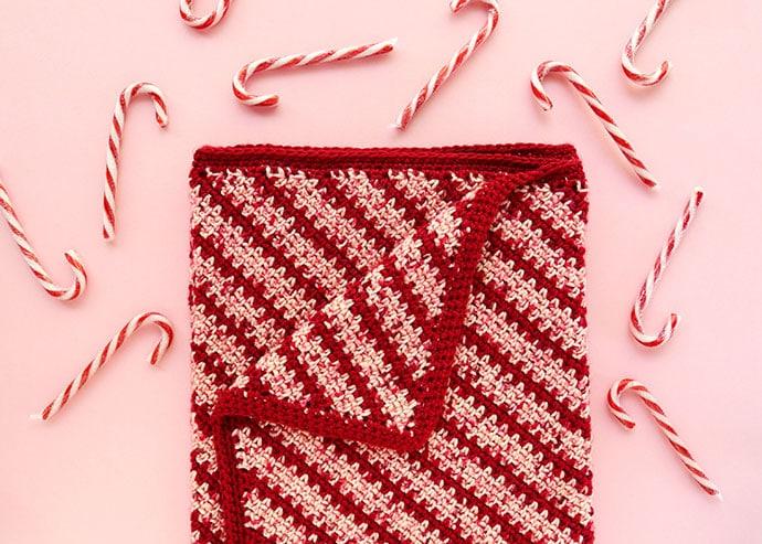 Candy Stripe Crochet Blanket Pattern