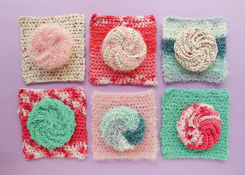 2 Crochet Dishcloth Patterns + What's the Best Dishcloth Yarn to Use?