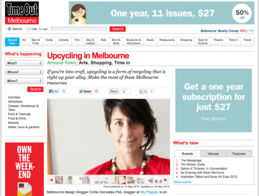 Timeout melbourne - upcycle interview