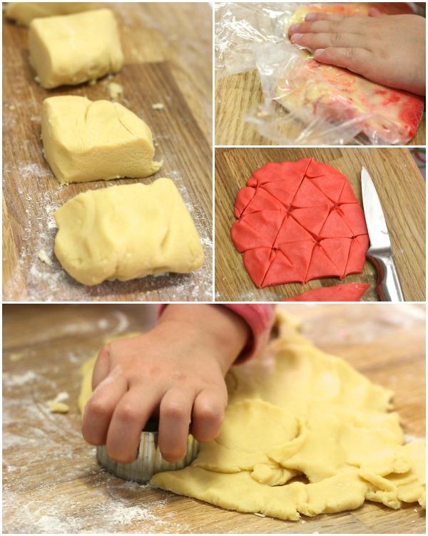 Cookie dough making recipe baking
