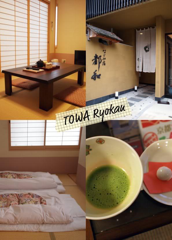 Towa Ryokan, Kyoto Japan. Futon sleping