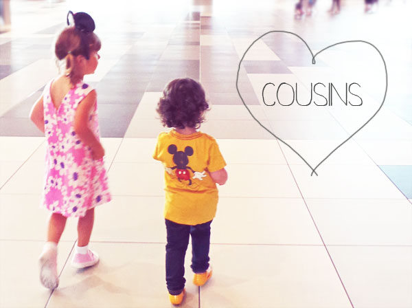 two cousins Mickey mouse fans