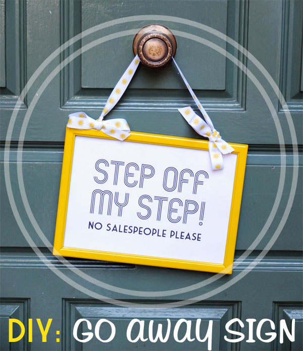 image about Please Knock Sign Printable identified as How In direction of: Do-it-yourself Body Makeover No Salespeople Printable