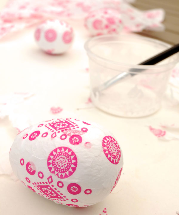 Pink and white easter egg
