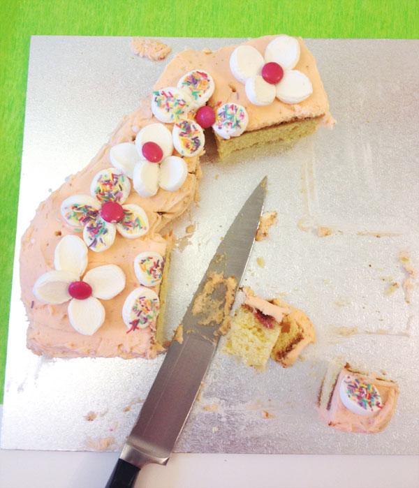 half eaten cake