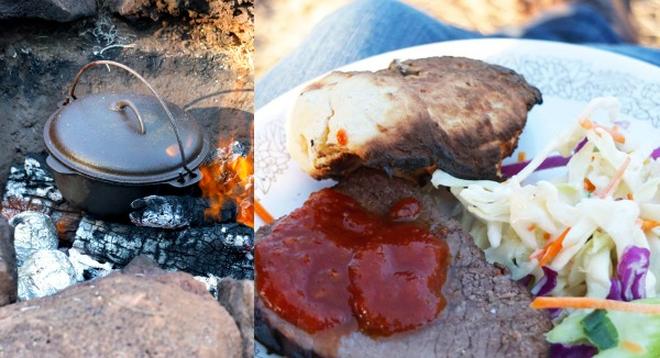 campfire dinner roast beef