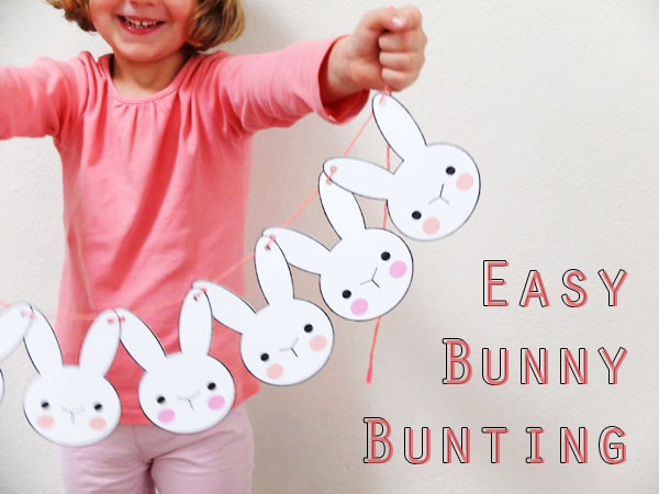 image about Printable Easter Craft identified as Bunny Bunting - Printable Easter Craft My Poppet Can make