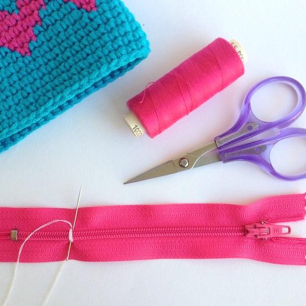 crochet zip purse diy mypoppet.com.au