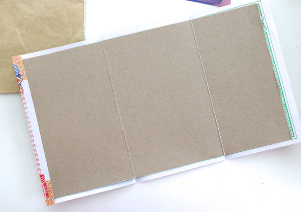 Cereal box cardboard notebook cover