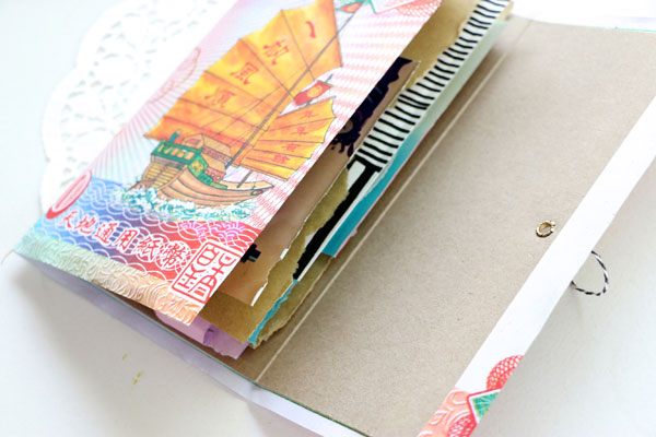 DIY ephemera note book