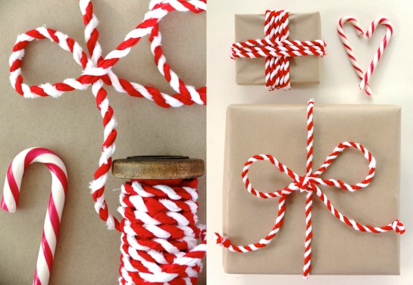 Candy cane fabric twine for christmas gift wrapping mypoppet.com.au