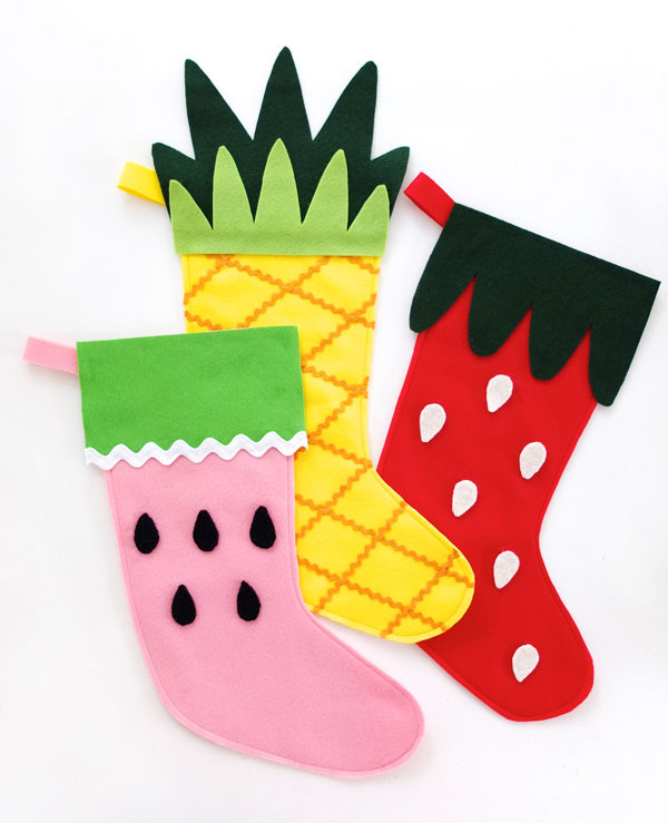 Fruity Felt Christmas Stockings with Free Pattern by mypoppet.com.au