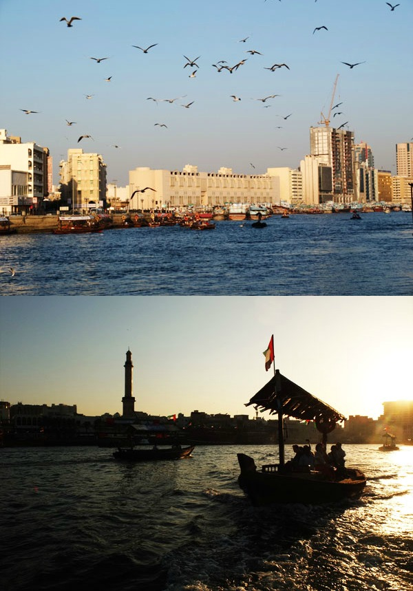 Dubai creek and Abra ride