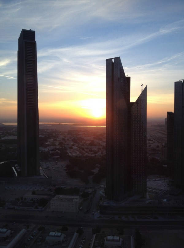 Sunrise views from Shangri-la hotel dubai