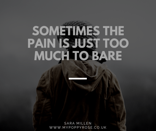 Quote: Sometimes the pain is just too much to bare.