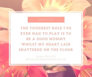 Angel Mummy Quote: The toughest role I've ever had to play is to be a good mummy whilst my heart laid shattered on the floor.