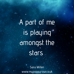 Angel Mummy Quote: A part of me is playing amongst the stars.