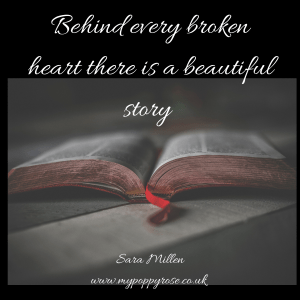 Quote: Behind every broken heart their is a beautiful story.