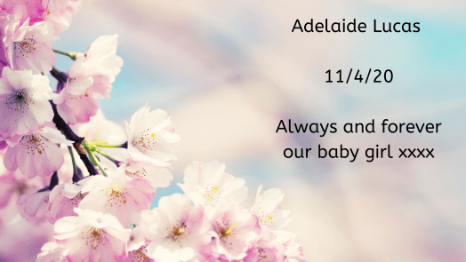 Remembering our babies: Adelaide Lucas