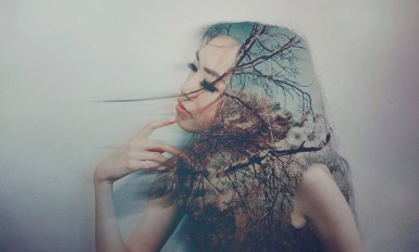 Girl Double Exposure Portrait Photography
