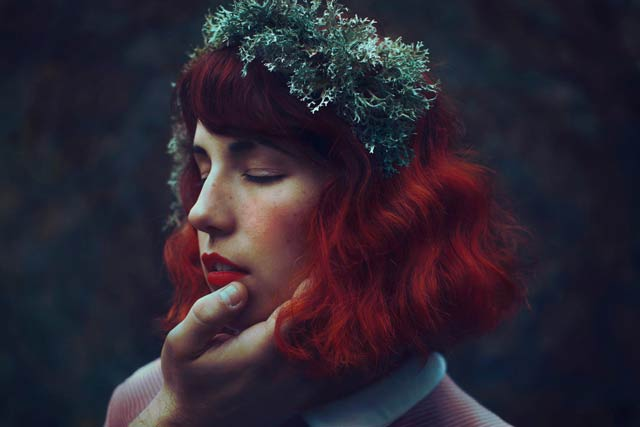 Red head girl portrait photograph