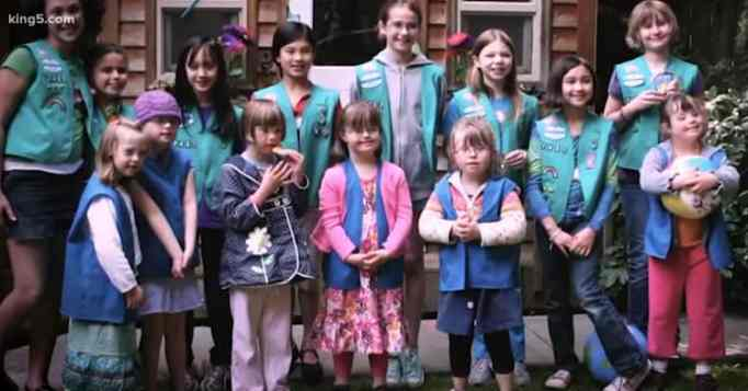 Young girls with Down syndrome